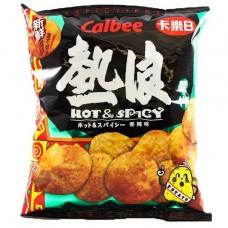 Calbee - Hot & Spicy Potato Chips 55g