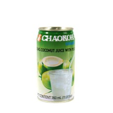 YOUNG COCONUT JUICE WITH PULP350ML-CHAOKOK