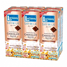 3 FOR £10 Lactasoy - Chocolate Soymilk (UHT) 6X250ml