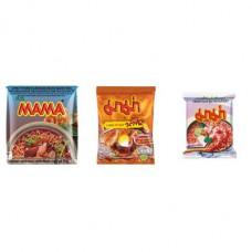 3 FOR £25 MIXED MAMA - MOO NAM TOK + SHRIMP CREAMY TOM YUM + SHRIMP TOM YUM