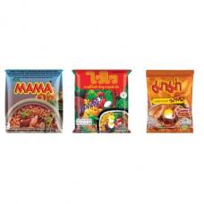 3 FOR £25 MIXED MAMA - MOO NAM TOK + WAI WAI ORIENTAL + SHRIMP CREAMY TOM YUM