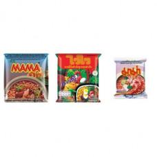 3 FOR £25 MIXED MAMA - MOO NAM TOK + WAI WAI ORIENTAL + SHRIMP TOM YUM