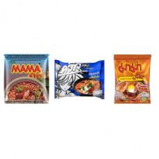 3 FOR £25 MIXED MAMA - MOO NAM TOK + WAI WAI TOMKLONG + SHRIMP CREAMY TOM YUM