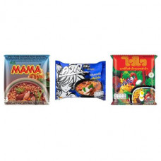 3 FOR £25 MIXED MAMA - MOO NAM TOK + WAI WAI TOMKLONG + WAI WAI ORIENTAL