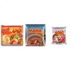 3 FOR £25 MIXED MAMA - Rice Vermicelli Tom Yum Koong + SHRIMP TOM YUM + MOO NAM TOK