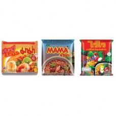 3 FOR £25 MIXED MAMA - Rice Vermicelli Tom Yum Koong + WAI WAI ORIENTAL + MOO NAM TOK