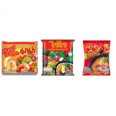 3 FOR £25 MIXED MAMA - Rice Vermicelli Tom Yum Koong + WAI WAI ORIENTAL + TOM SAAB
