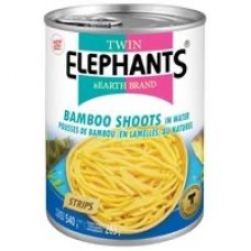 TWIN ELEPHANTS - BAMBOO SHOOTS(STRIPS) IN WATER 540G
