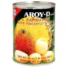 Rambutan With Pineapple in Syrup 565g - AROY D