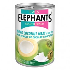 Young Coconut Meat (Slices) In Syrup 425g - Twin Elephants