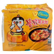 SAMYANG HOT CHICKEN RAMYUN CHEES5X140G (BBF 15/04/2021)
