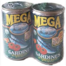 MEGA - Sardines In Tomato Sauce 155g (Twin Pack)