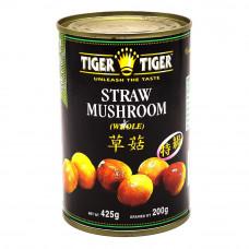 Straw Mushroom Whole 425g-Tiger Tiger