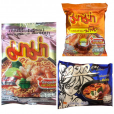 3 x Noodle Case For £20.00 - WAIWAI Tom Klong + MAMA Creamy Shrimp Tom Yum + Shrimp Tom Yum