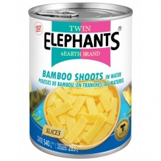 TWIN ELEPHANTS - BAMBOO SHOOTS(SLICES) IN WATER 540G