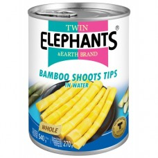 TWIN ELEPHANTS - BAMBOO SHOOTS(TIPS) IN WATER 540G