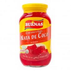 BUENAS NATA DE COCO COCONUT GEL-RED 340G