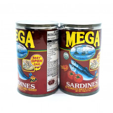MEGA - Sardines In Tomato And Chilli Sauce 155g (Twin Pack)