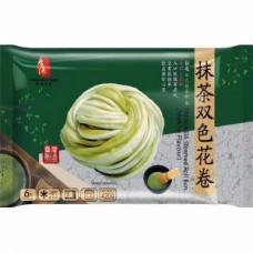 FreshAsia - Steamed Roll Bun Matcha Flavour 420g