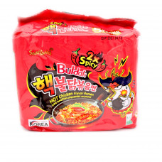 SAM YANG NOODLE 2X SPICY HOT CHICKEN 8/5X140G