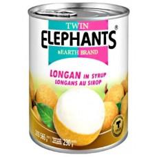 Twin Elephants - Longan In Syrup 565g